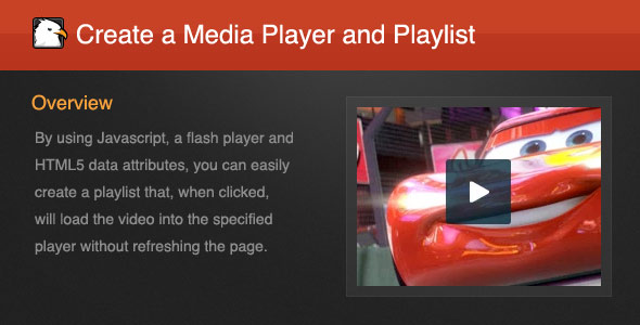 Create a Media Player and Playlist