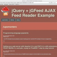 Build an RSS Feed Reader with jQuery and jGFeed: New Plus Tutorial